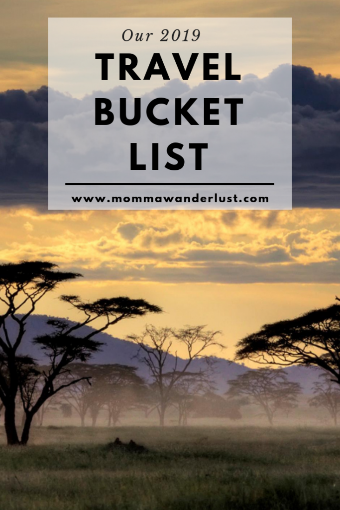 Our 2019 Travel Bucket List (cover)
