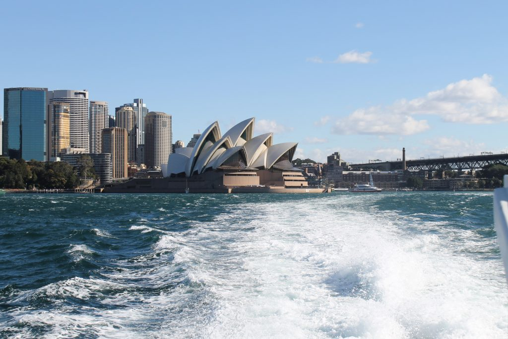 View of the Sydney Opera House from the Harbour
