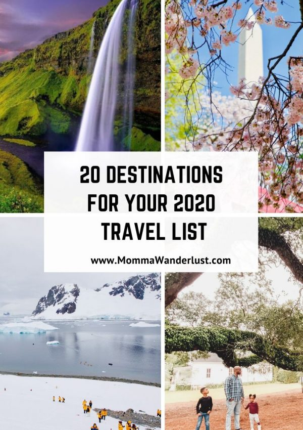20 Destinations for Your 2020 Travel List