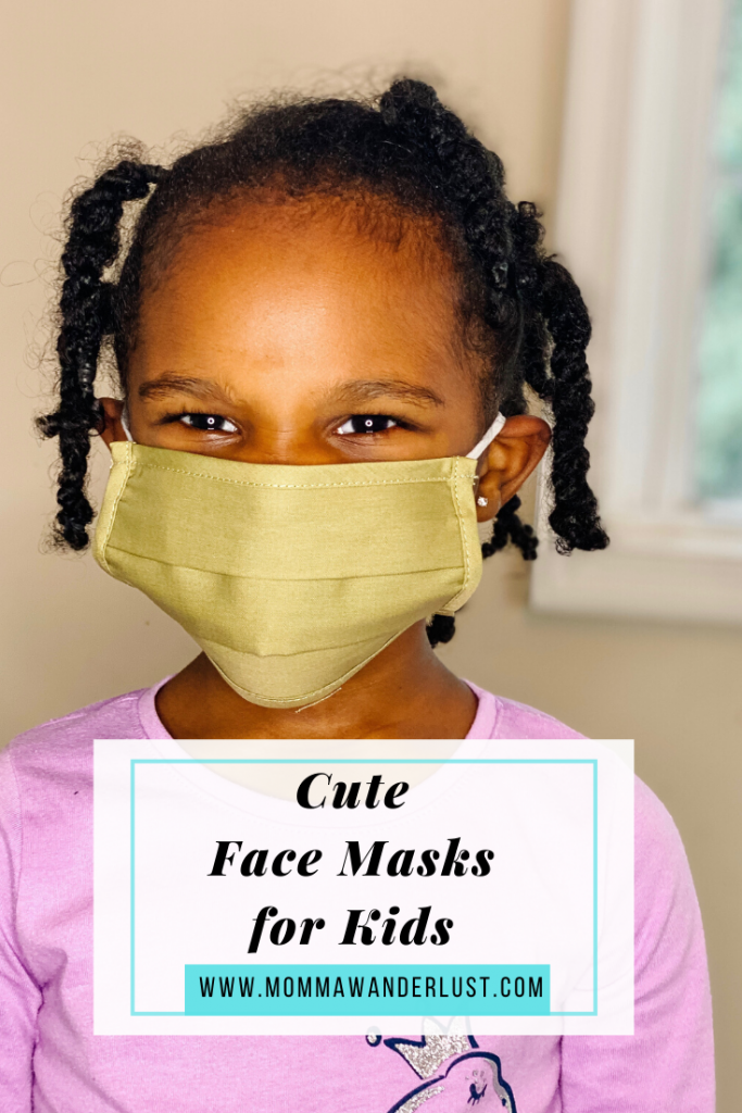 6 Cute Face Masks for Kids featured by family blogger, Momma Wanderlust