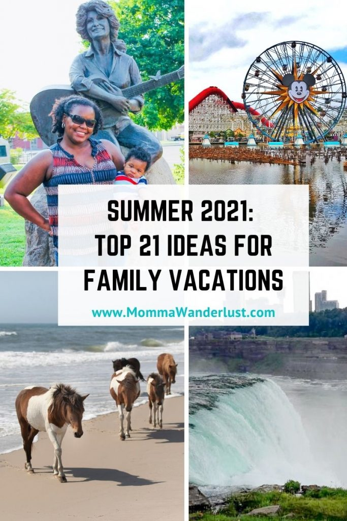 Summer Travel 2021: best family vacation destinations featured by top US BIPOC travel blogger, Momma Wanderlust