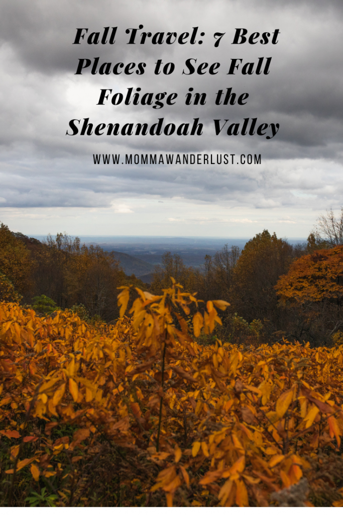 Fall Travel: 7 Best Places to See Fall Foliage in the Shenandoah Valley featured by top US family travel blogger, Momma Wanderlust