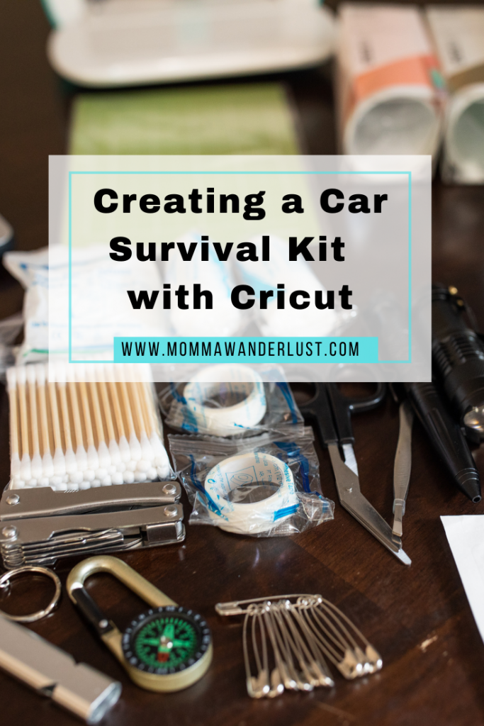 Cricut car survival kit featured by top US family travel blogger, Momma Wanderlust.