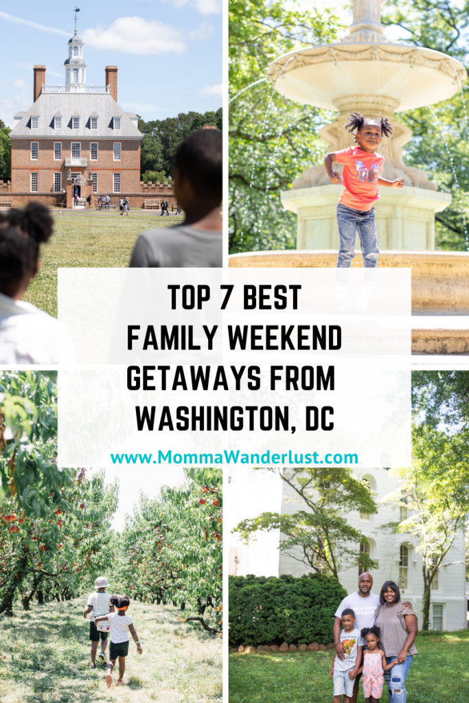 Top 7 Family Getaways from featured by top US family travel blogger, Momma Wanderlust